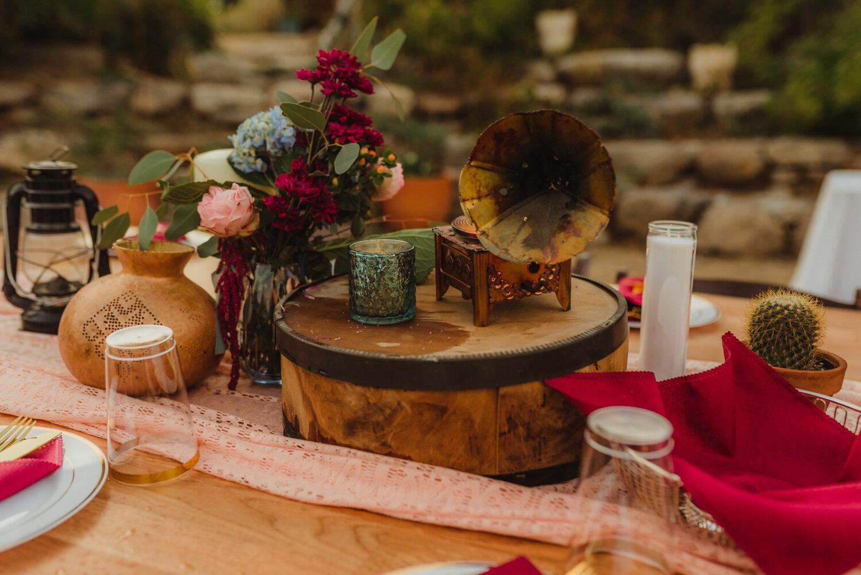 River School Farm Wedding, eclectic themed wedding decor photo