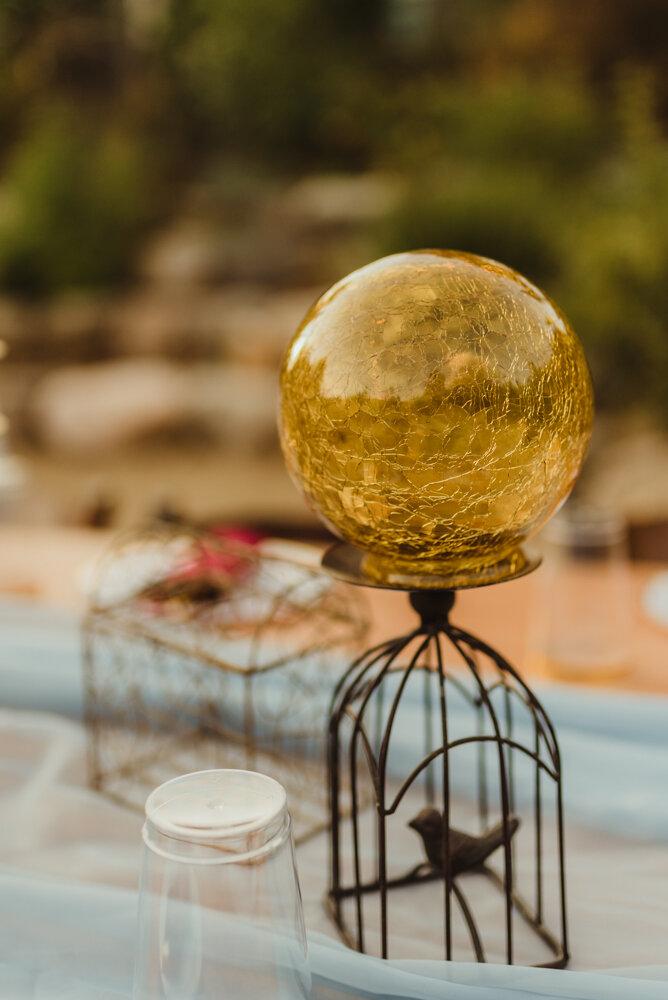 River School Farm Wedding, wedding globe decor