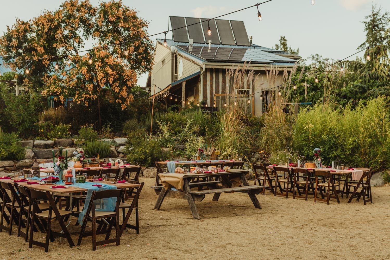 River School Farm Wedding, eclectic themed reception photo