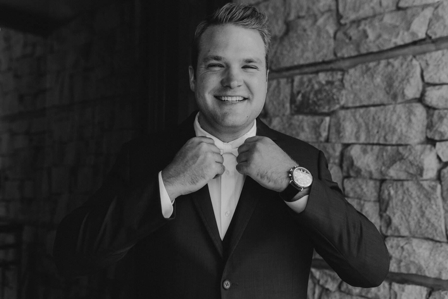Edgewood Tahoe Wedding, photo of groom getting ready