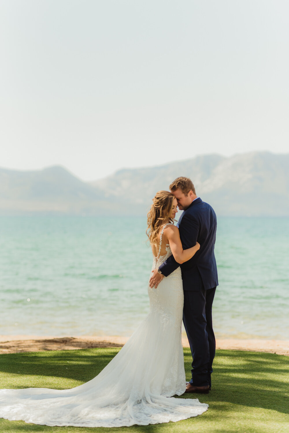 Edgewood Tahoe Wedding, photo of couple during the day