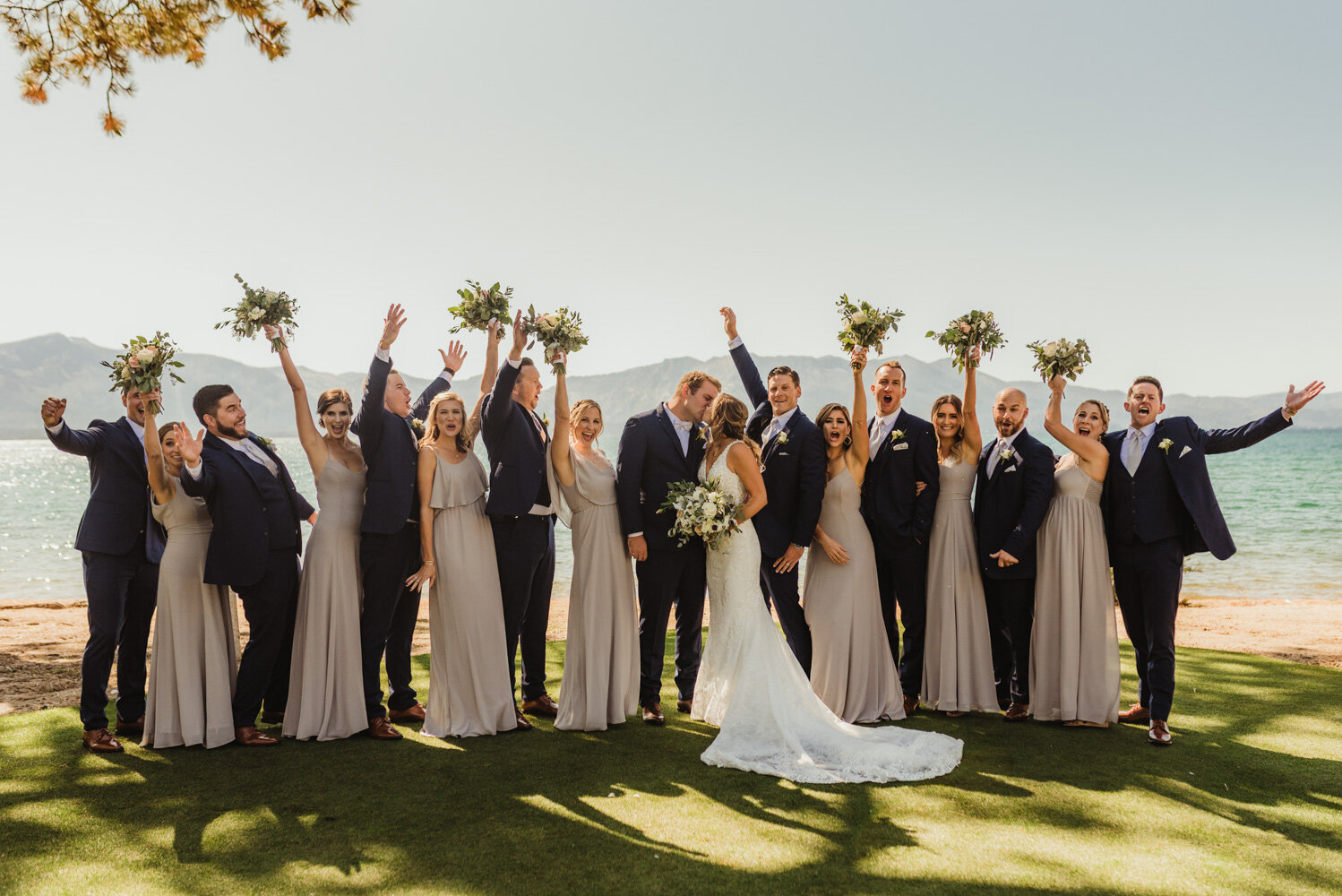 Edgewood Tahoe Wedding, bridal party photo