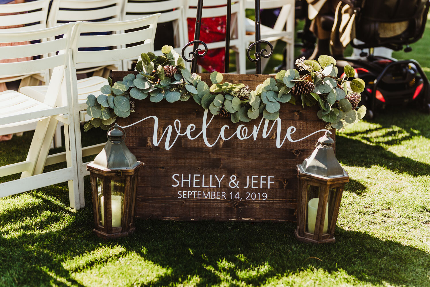 Edgewood Tahoe Wedding, wedding sign that says Welcome photo