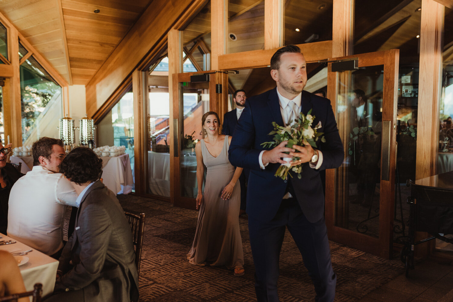 Edgewood Tahoe Wedding, candid photo of guest