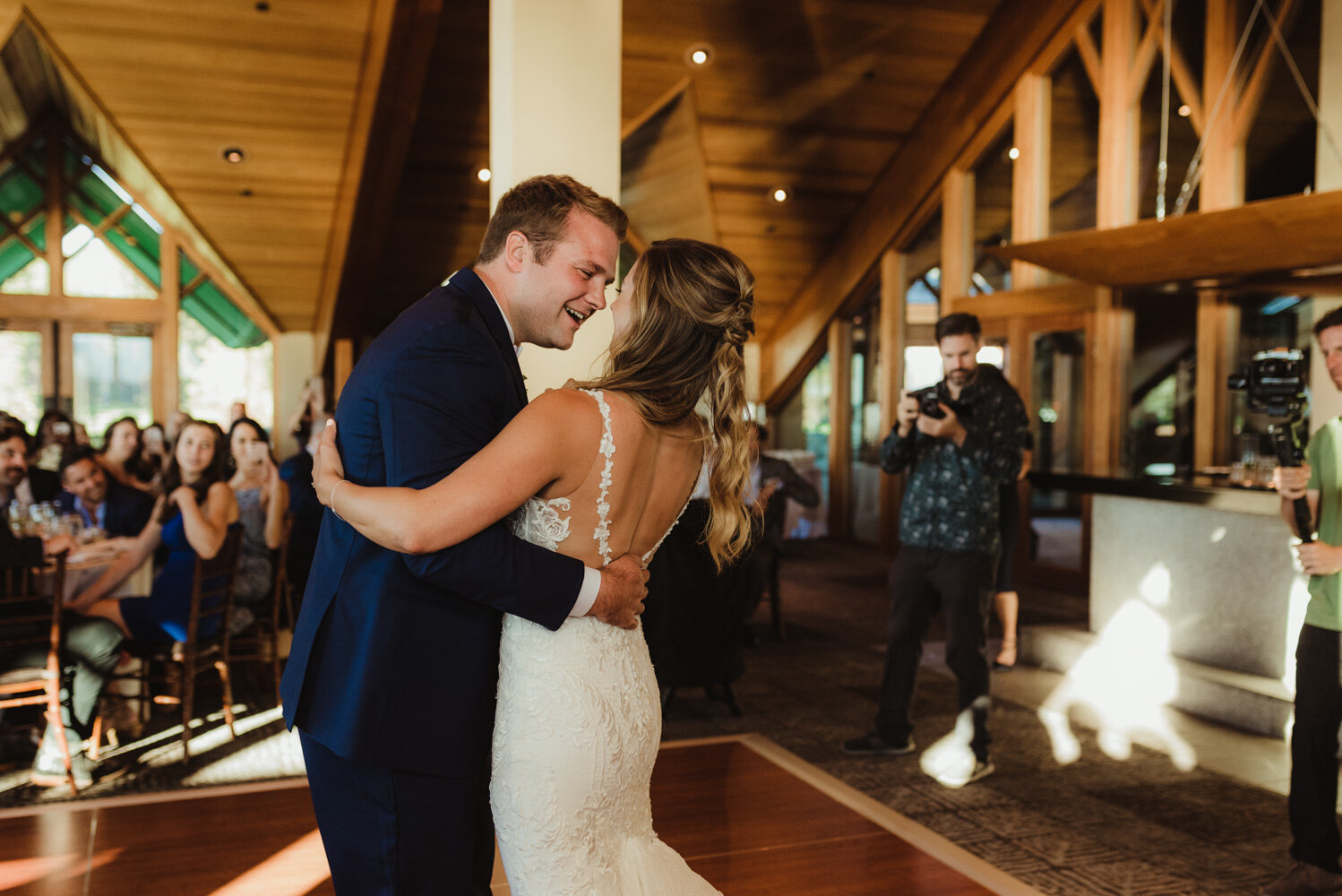 Edgewood Tahoe Wedding, photo of groom during his first dance