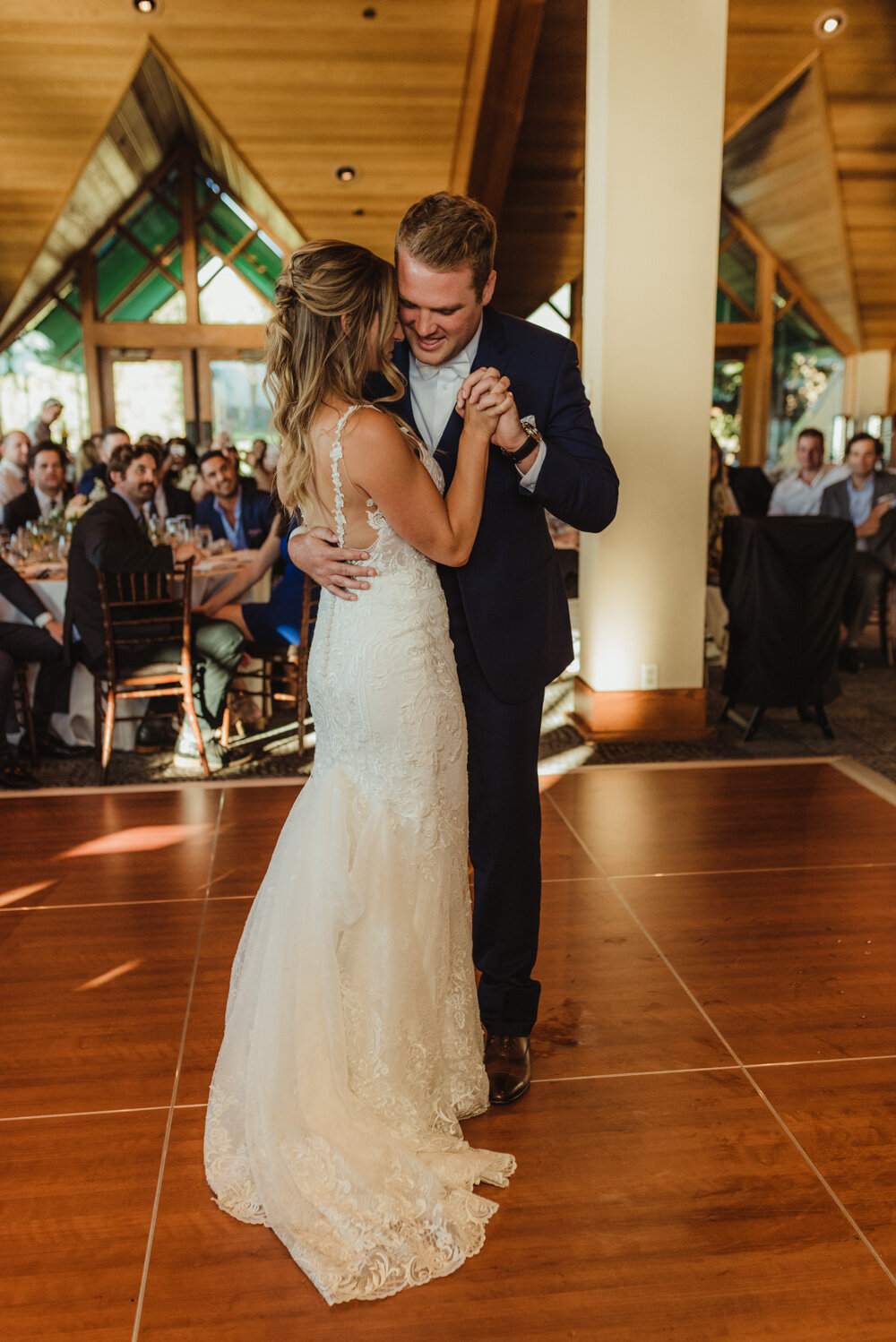 Edgewood Tahoe Wedding, couple dancing photo