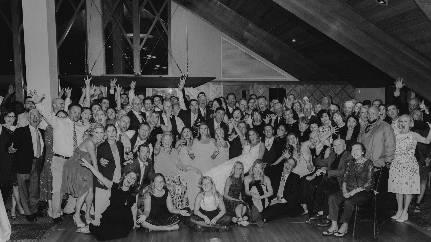 Edgewood wedding, photo of all of the guests