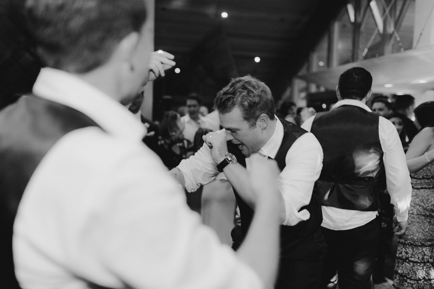 Edgewood wedding, photo of groom dancing
