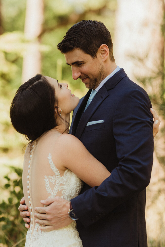 The Chateau Incline Village Wedding, photo of first look