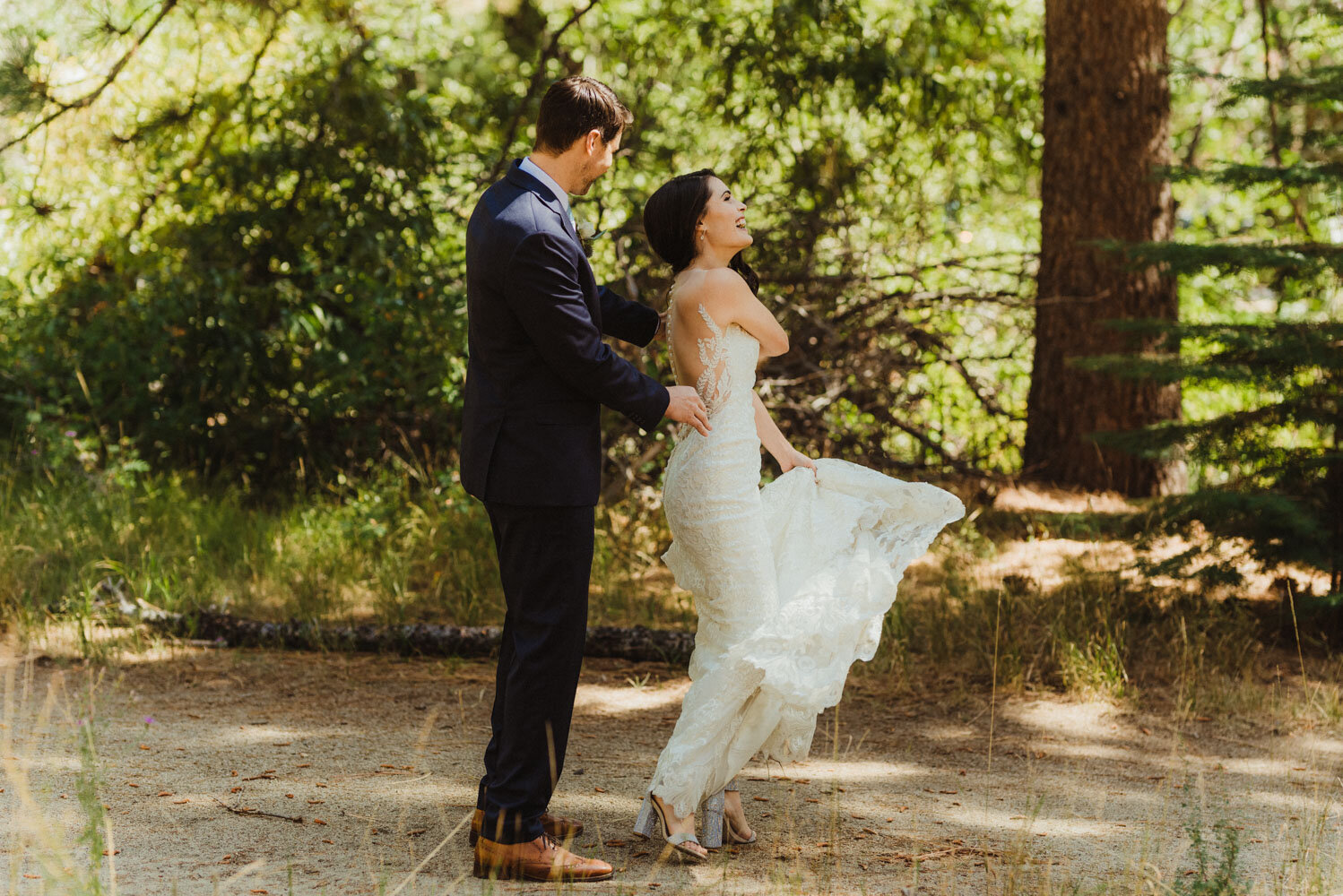 The Chateau Incline Village Wedding, first look photo