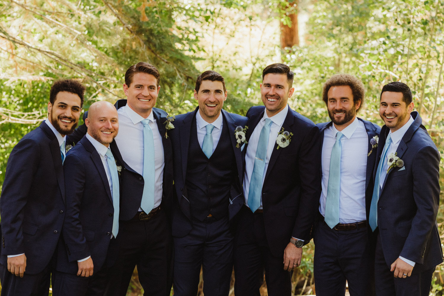 The Chateau Incline Village Wedding, groom and his friends photo