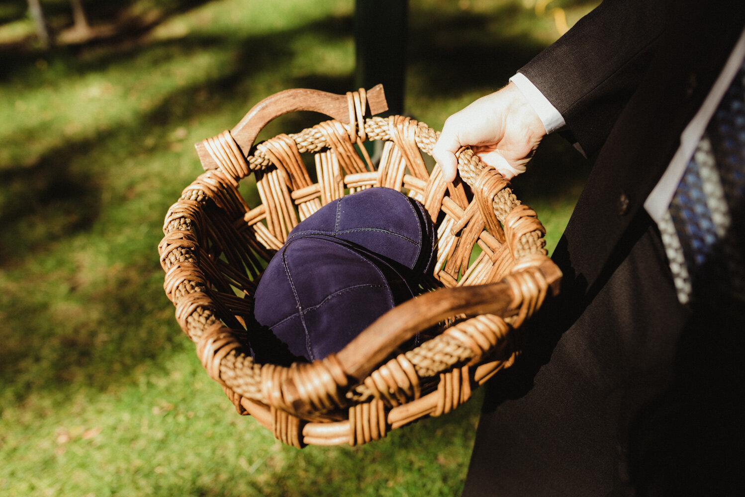 The Chateau Incline Village Wedding, jewish hats during ceremony photo