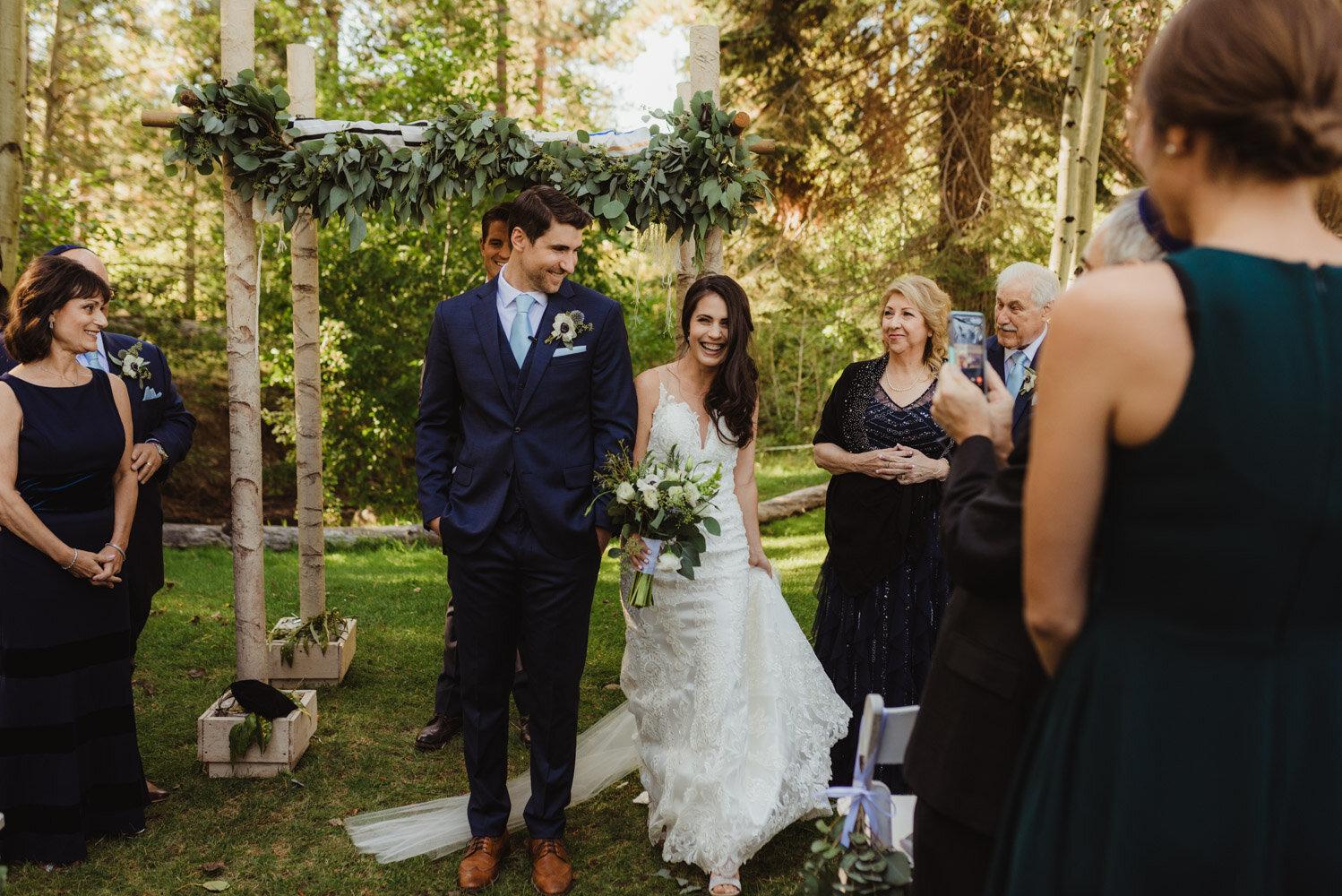 The Chateau Incline Village Wedding, jewish wedding, photo of bride circling the groom