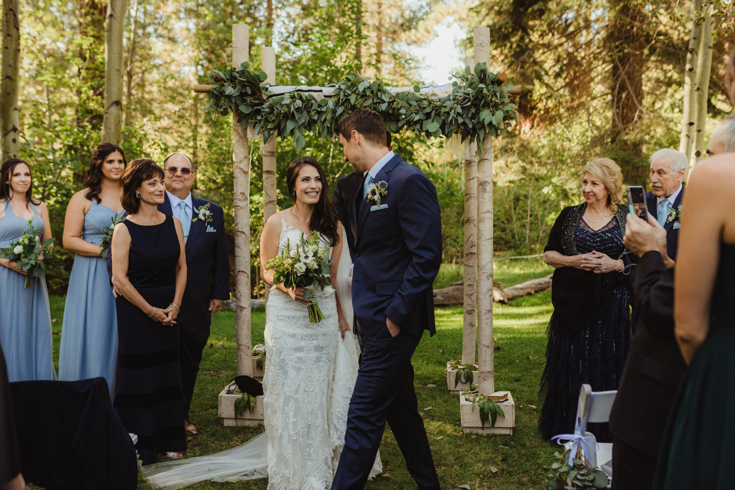 The Chateau Incline Village Wedding, jewish wedding, photo of groom circling the bride