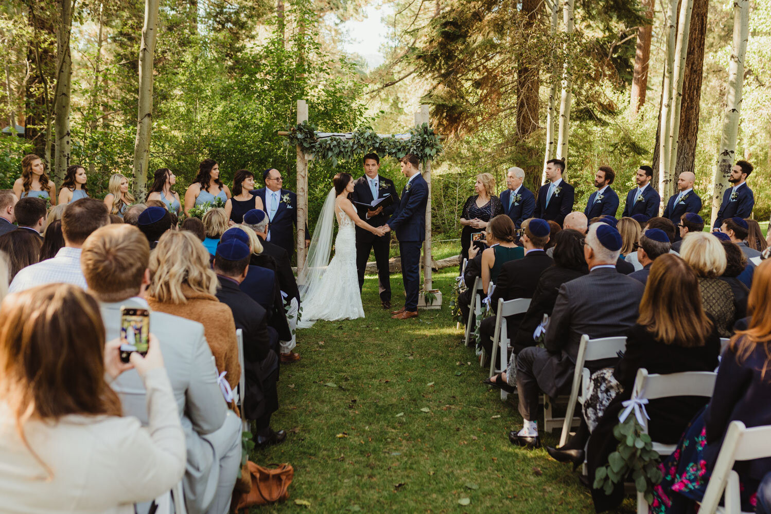 The Chateau Incline Village Wedding, wide angle shot of ceremony