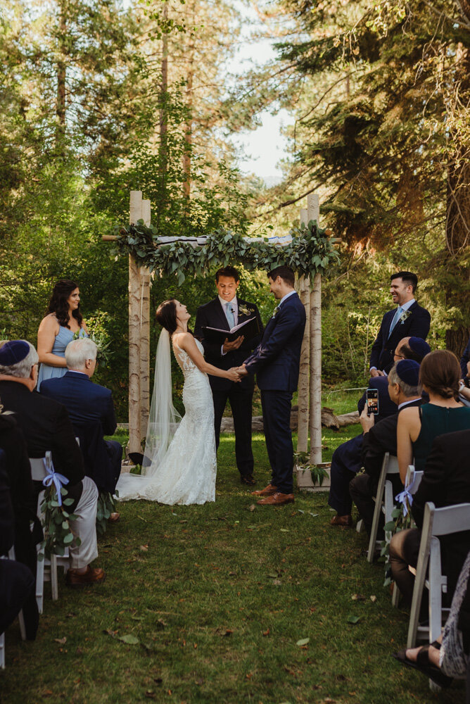 The Chateau Incline Village Wedding, photo of greenery arch