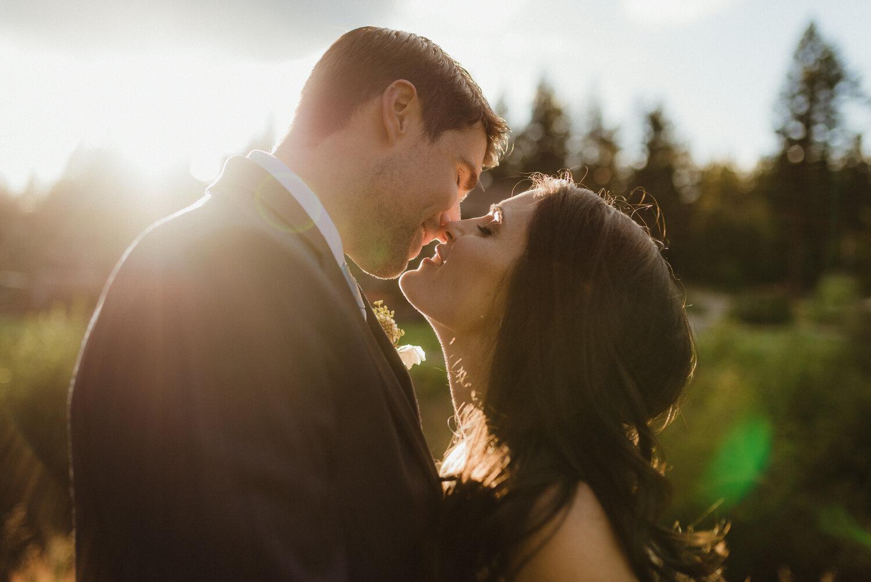 The Chateau Incline Village Wedding, jewish wedding photographer, photo of couple kissing