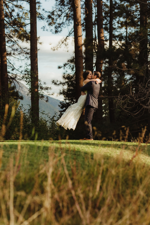 jewish wedding photographer in lake tahoe, couple playing around photo