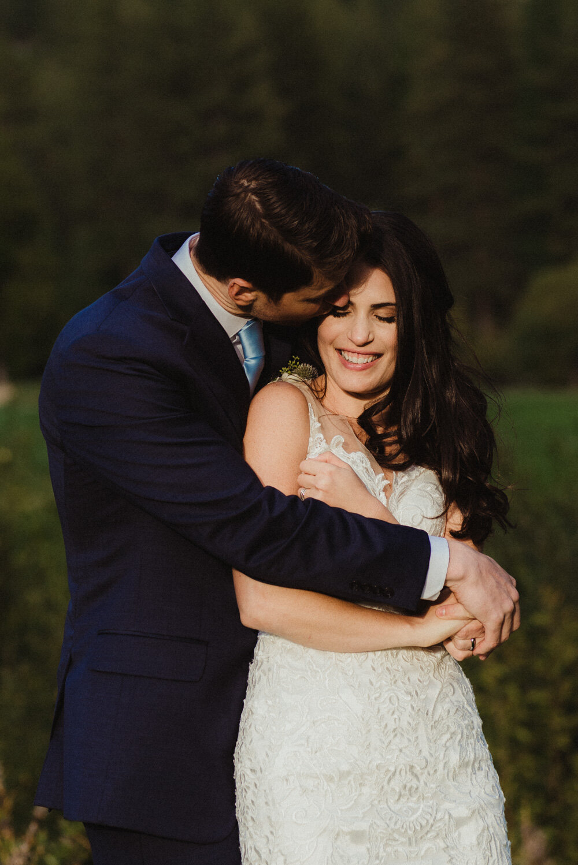 jewish wedding photographer in lake tahoe, couple snuggling photo
