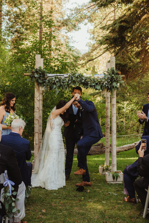 jewish wedding photographer in lake tahoe, breaking of the glass photo