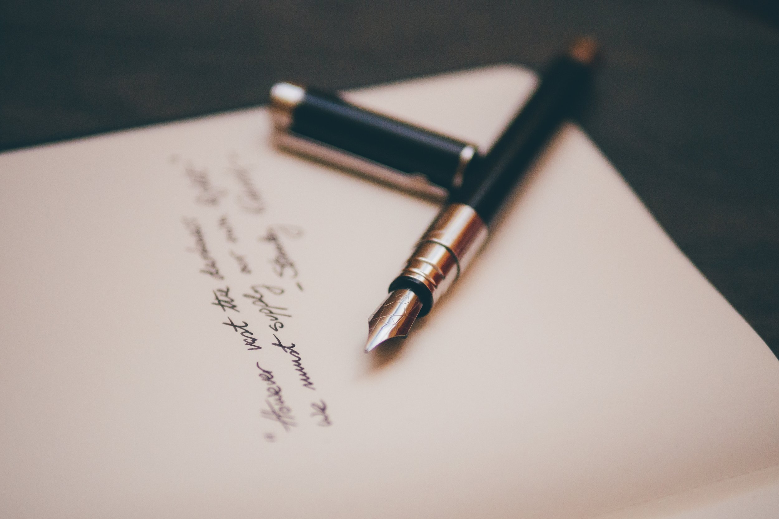 write a list of expectations