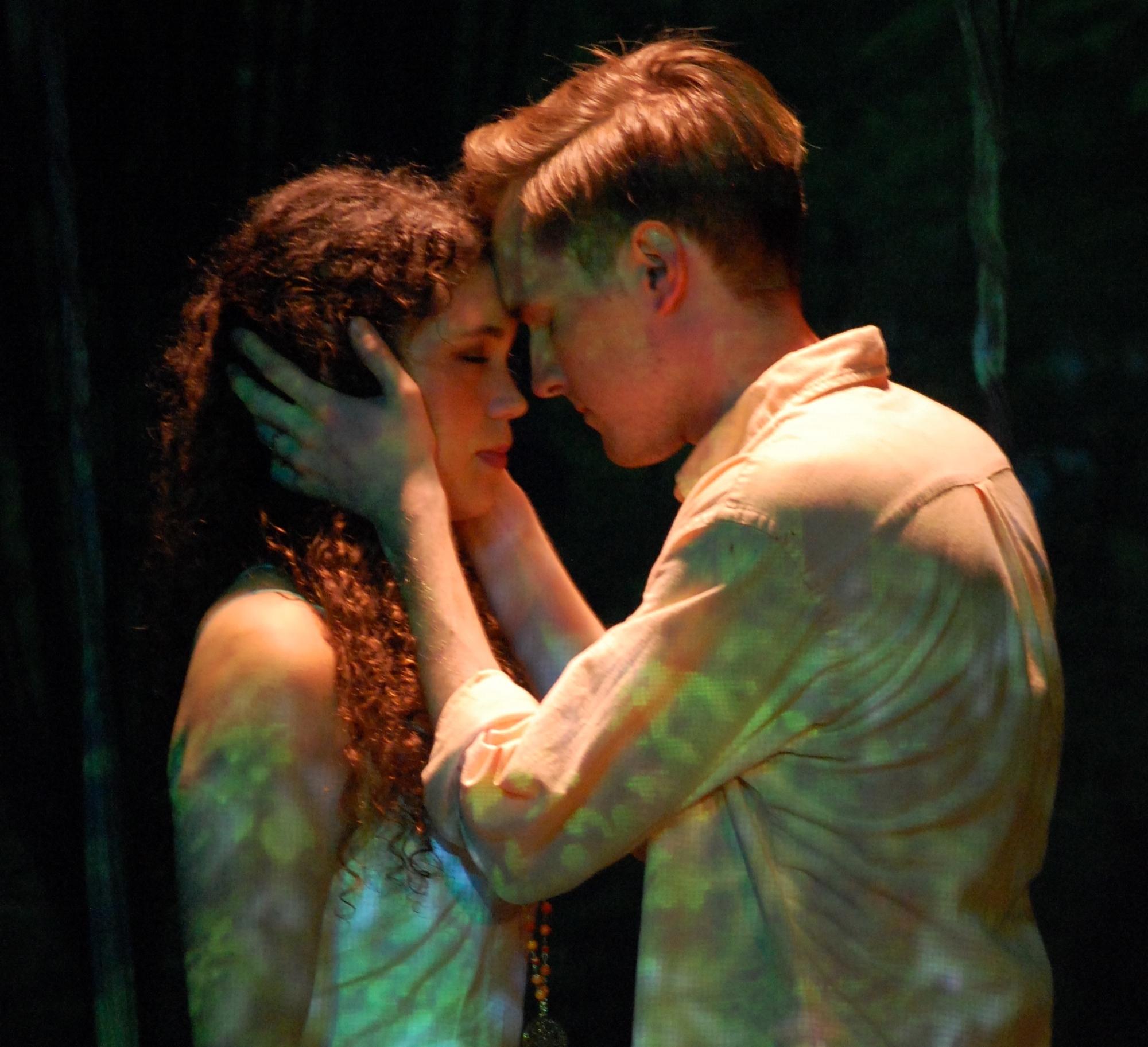 Orpheus places a poem in Eurydice's mind