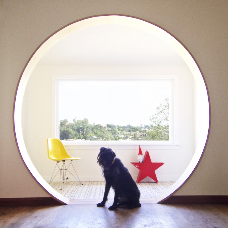 Rosie girl is totally feeling the round doorway. Designed by  Catherine Garrison  who has the patience of a saint!