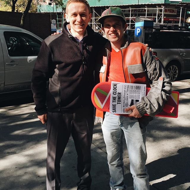 Ran into Marty McFly on my lunch break -- it's THE FUTURE!!
