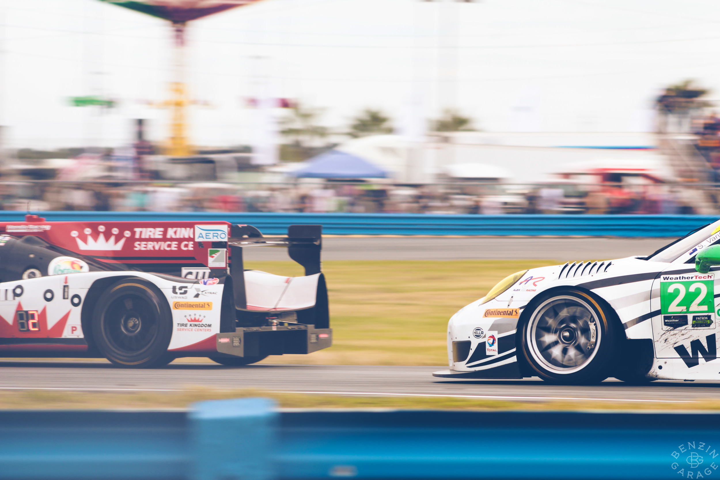 For most everyone in the prototype field, the tail end of Michael Shank Racing's car is what they saw.