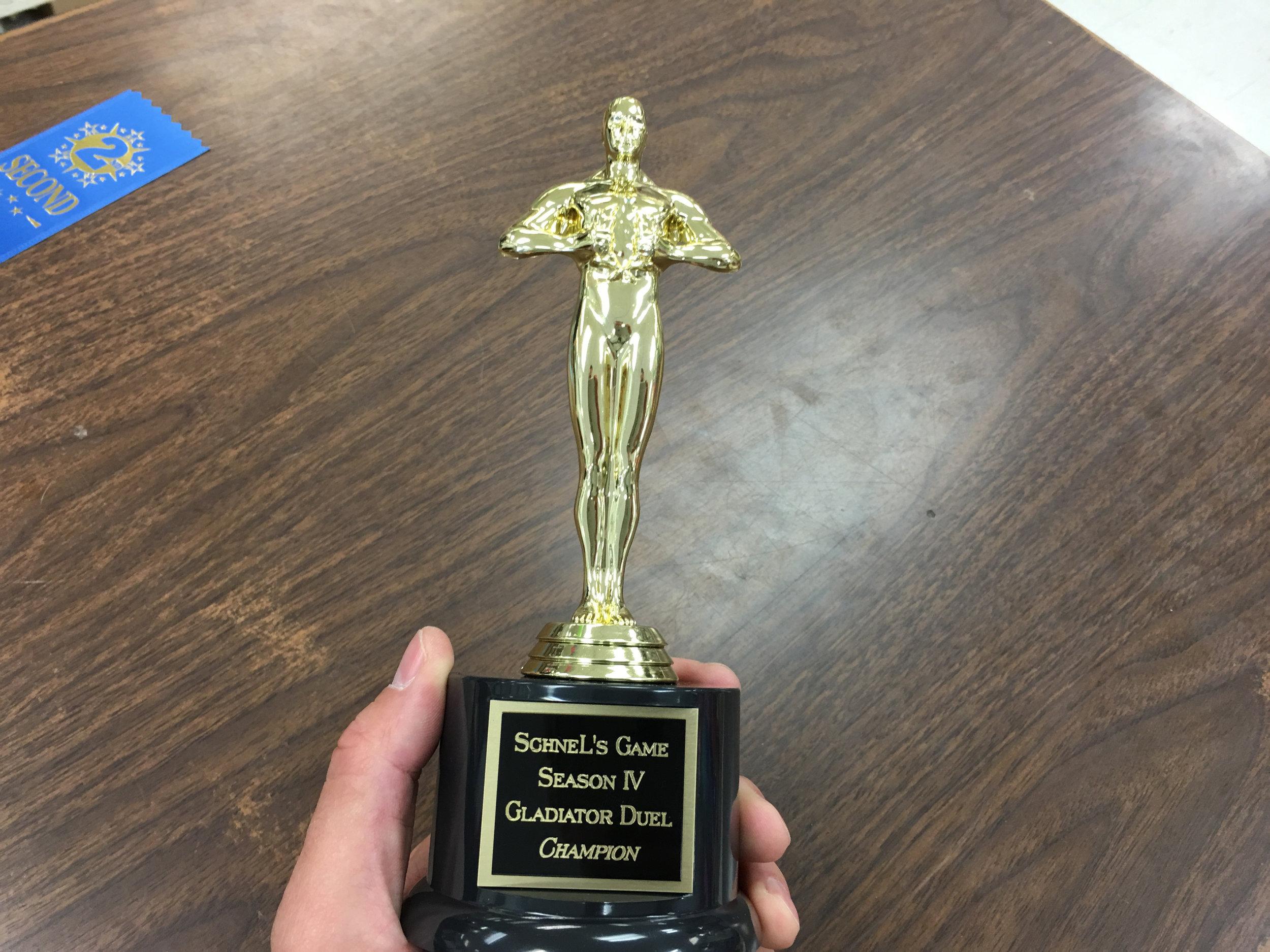 First ever Gladiator Duel trophy