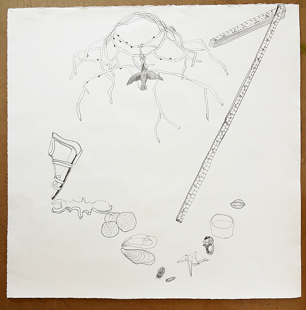 Still Life with Thorn Necklace and Cicada