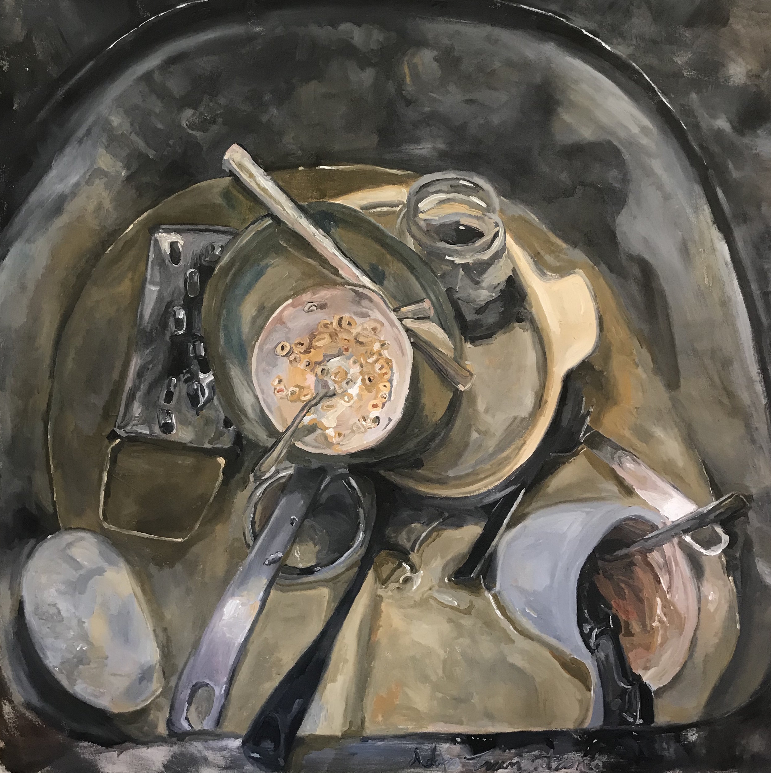 "Symphony In the Sink # 3                 50""x50"""
