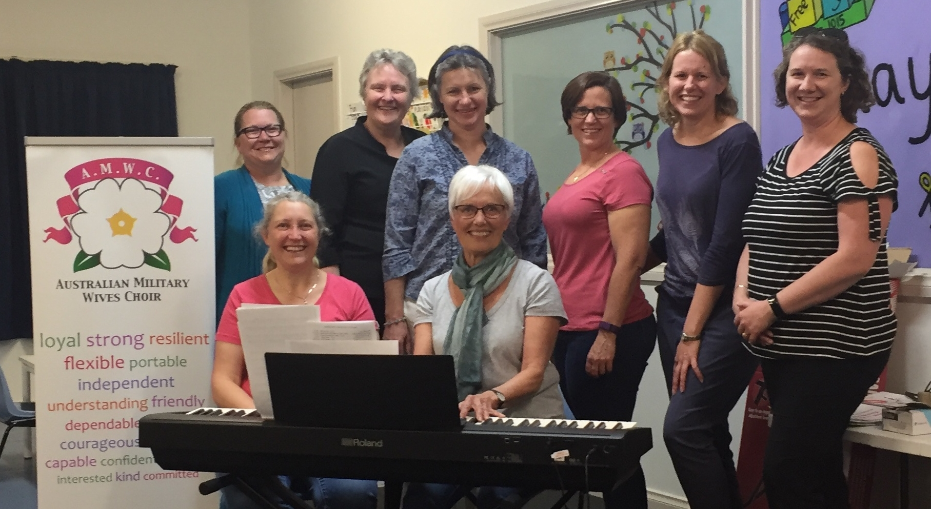 AMWChoir Wagga Wagga are very excited to receive a dedicated piano and music stool which will make rehearsing and accompanying much easier.