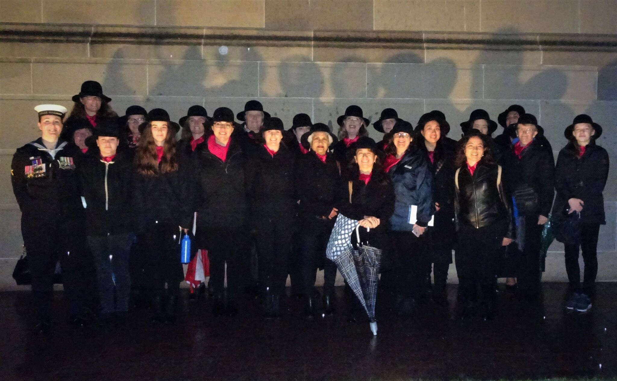 For many years AMWC Canberra has been part of the combined choir at the National Anzac Day Dawn Service at the Australian War Memorial.