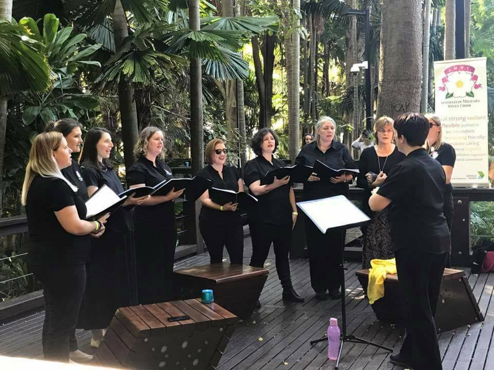 As part of the You're the Voice festival against family voilence, AMWC Brisbane did a pop-up performance at Southbank.