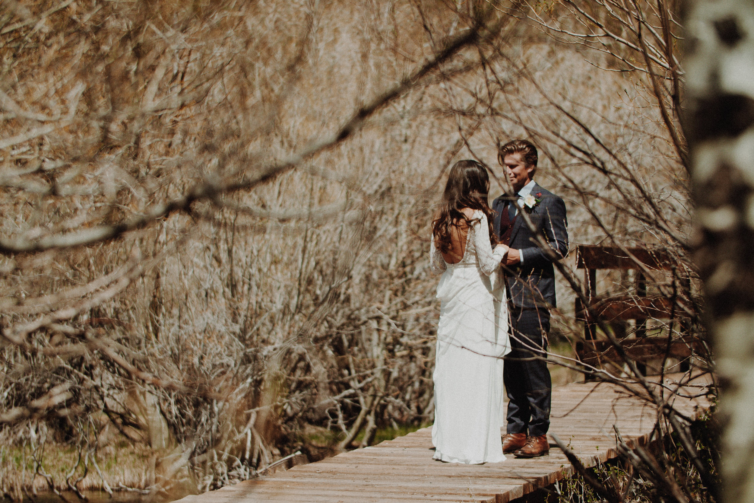 - Mariel and Casey decided to share their personal vows to each other, completely unplugged in an intimate setting, right before the main ceremony started.