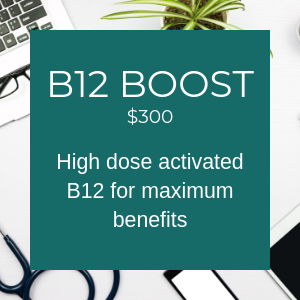 B12 Boost $300 High dose activated B12 for maximum benefits.