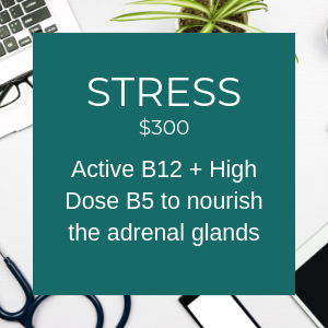 Stress $300 Active B12 + High Dose B5 to nourish the adrenal glands
