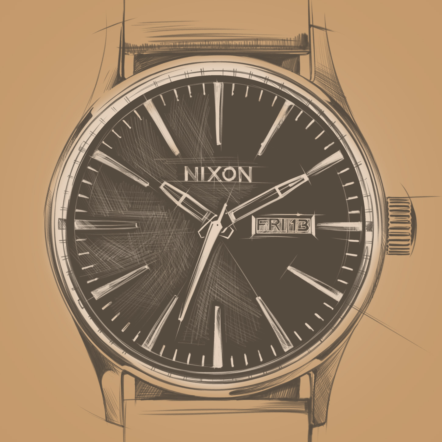 NIXON WATCHES   PRODUCT RENDERING / PATTERNS / ILLUSTRATION / POSTERS