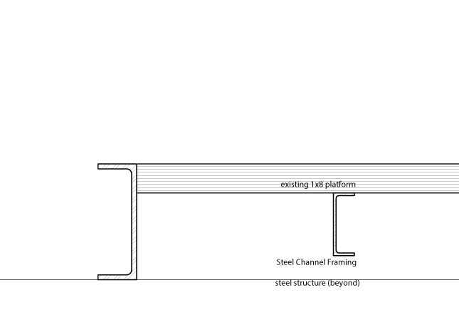 Section Through Existing Trailer, as provided
