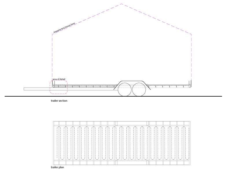 Tiny House Trailer Plan and Section