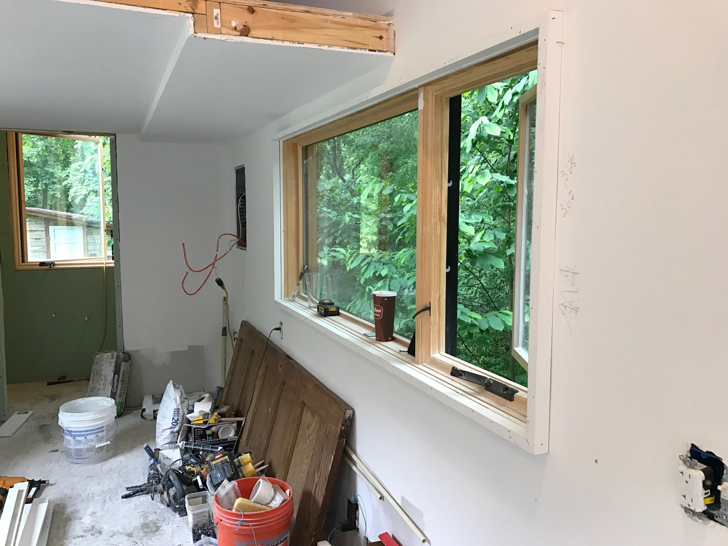 drywall!  Oh the purity of a white wall!