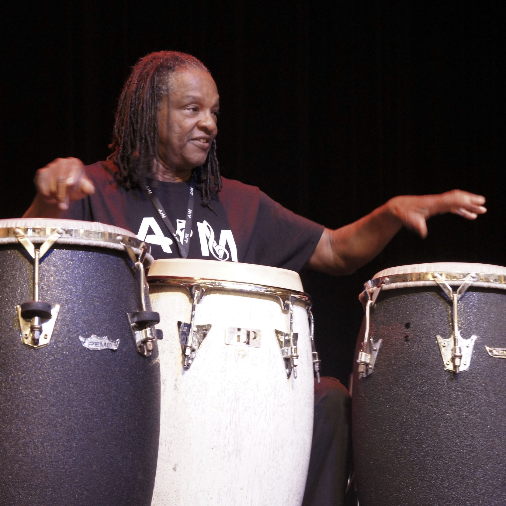 "BABATUNDE LEA Drumming, Chanting, and Dance(2015-16 COHORT) - A professional musician and music educator, Babatunde Lea teaches and plays rhythms from the African Diaspora focusing on playing percussion instruments - teaching their technique, spirit, and application. He teaches from an African perspective, including drumming, chanting, and dance. Babatunde concentrates on the communal feelings that each drumming tradition can produce, emphasizing that just like polyrhythms, we are all connected. ""If you walk, you can dance; if you talk, you can sing"" (old African proverb).See Tunde's Blog →"