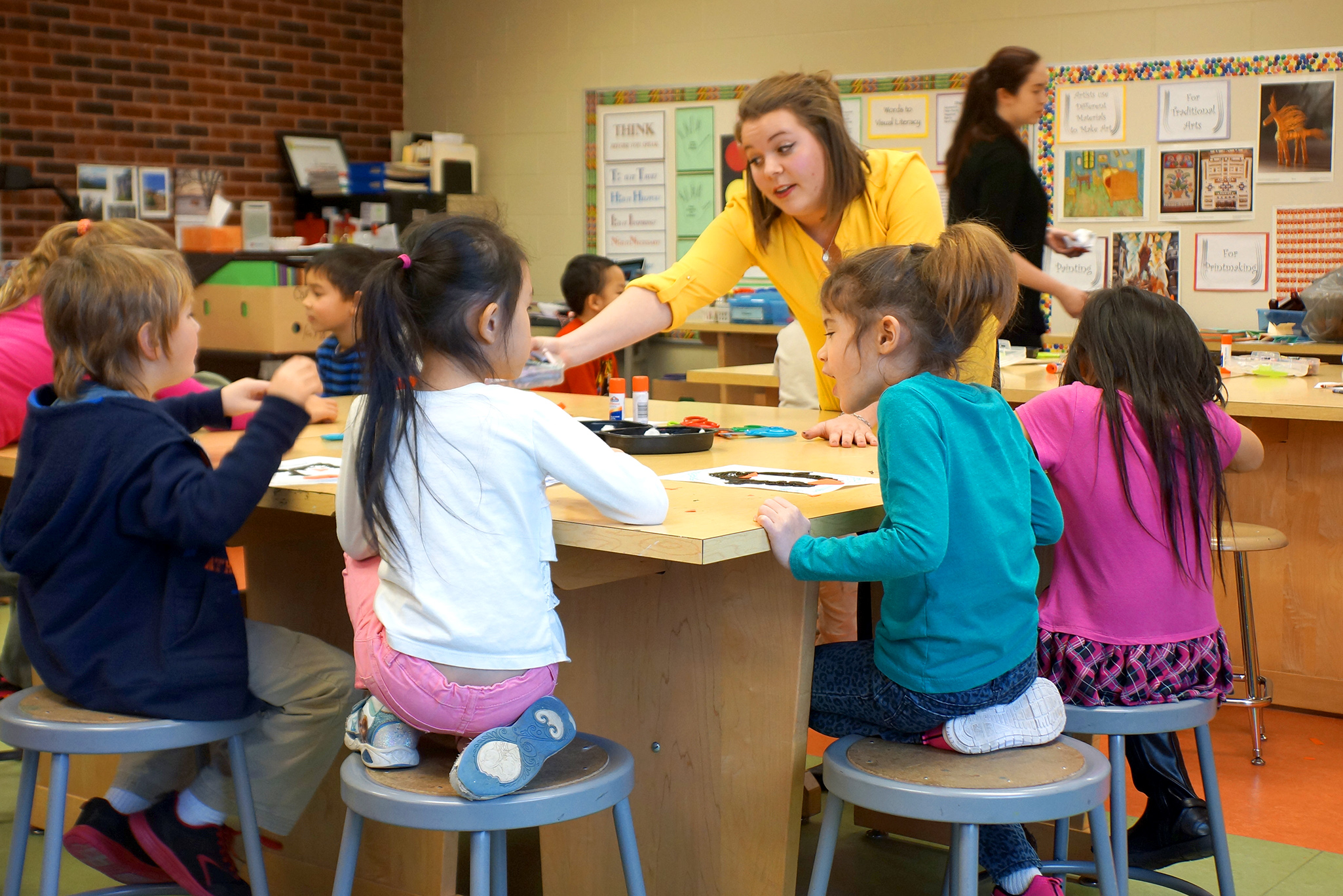 Pre-service teacher Olivia Revolinski gains additional hands-on experience through community art teaching internships.