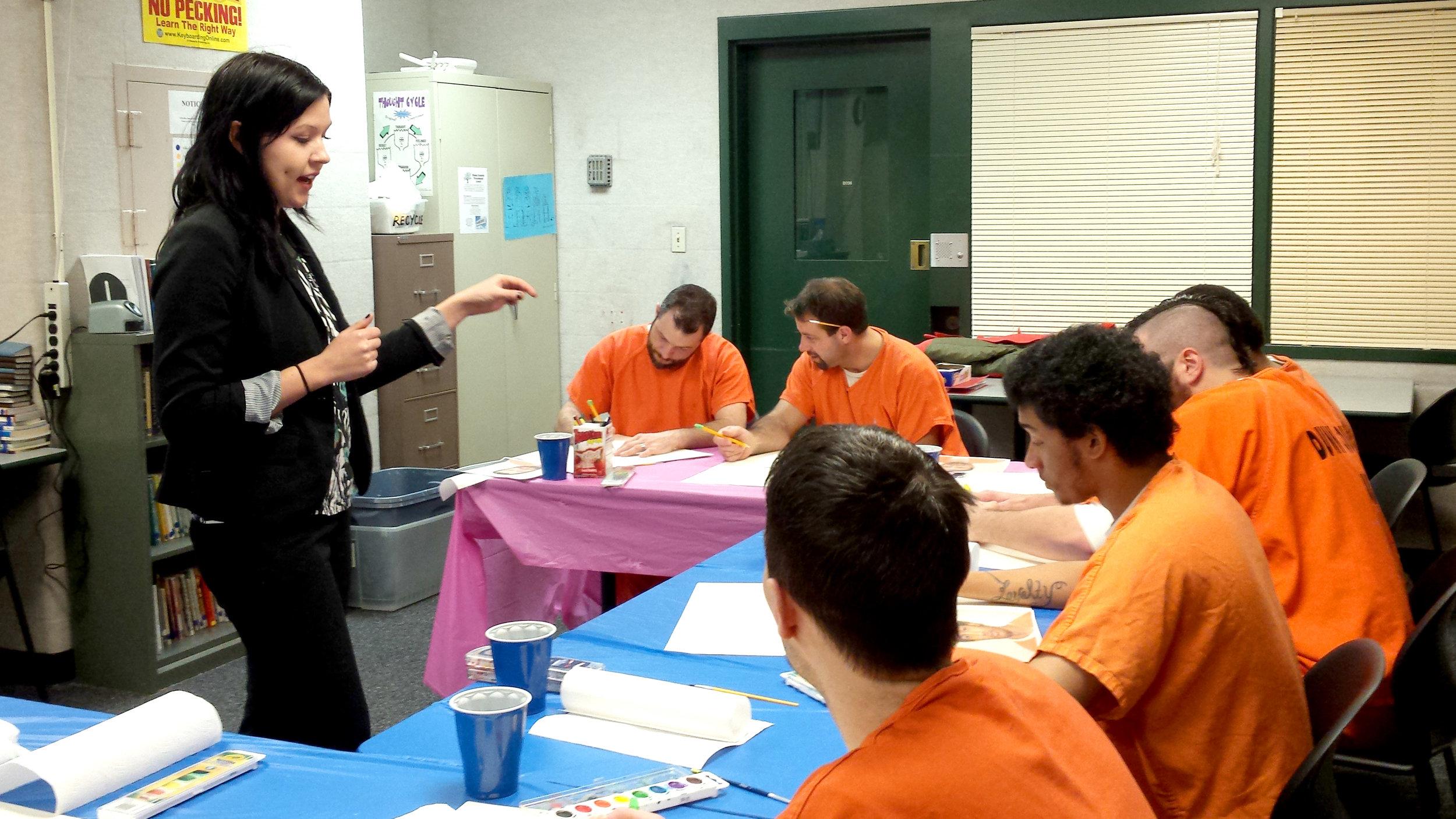 Sarah Kehoe  UW-Stout Art Education INTERNSHIP: Painting classes, Dunn County Jail