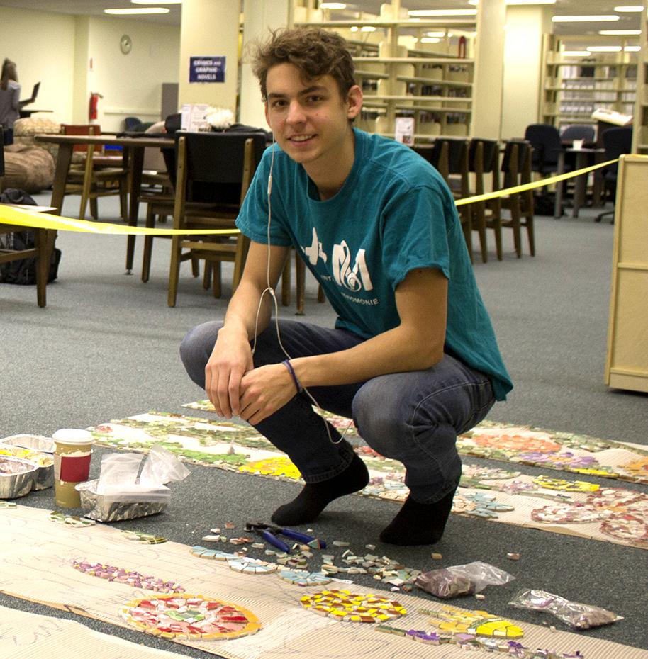 Marko Pechnik  UW-Stout Art Education INTERNSHIP: Mosaic Mural Installation LOCATION: UW-Stout Library