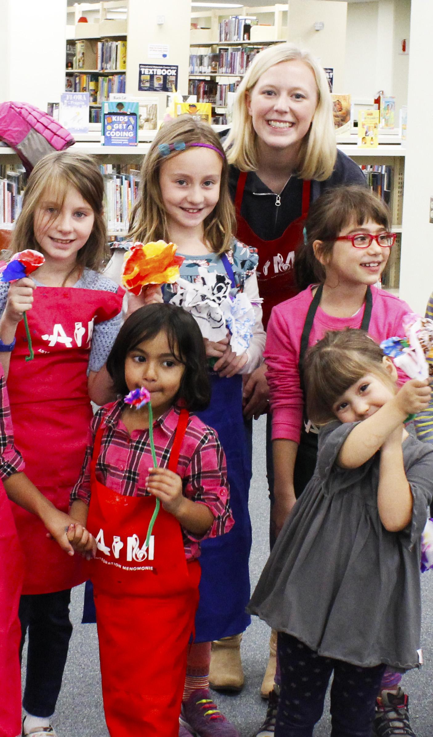 LAURA PRESLEY , UW-STOUT ART EDUCATION INTERNSHIP: PAINT Saturdays - K-5 Art Classes