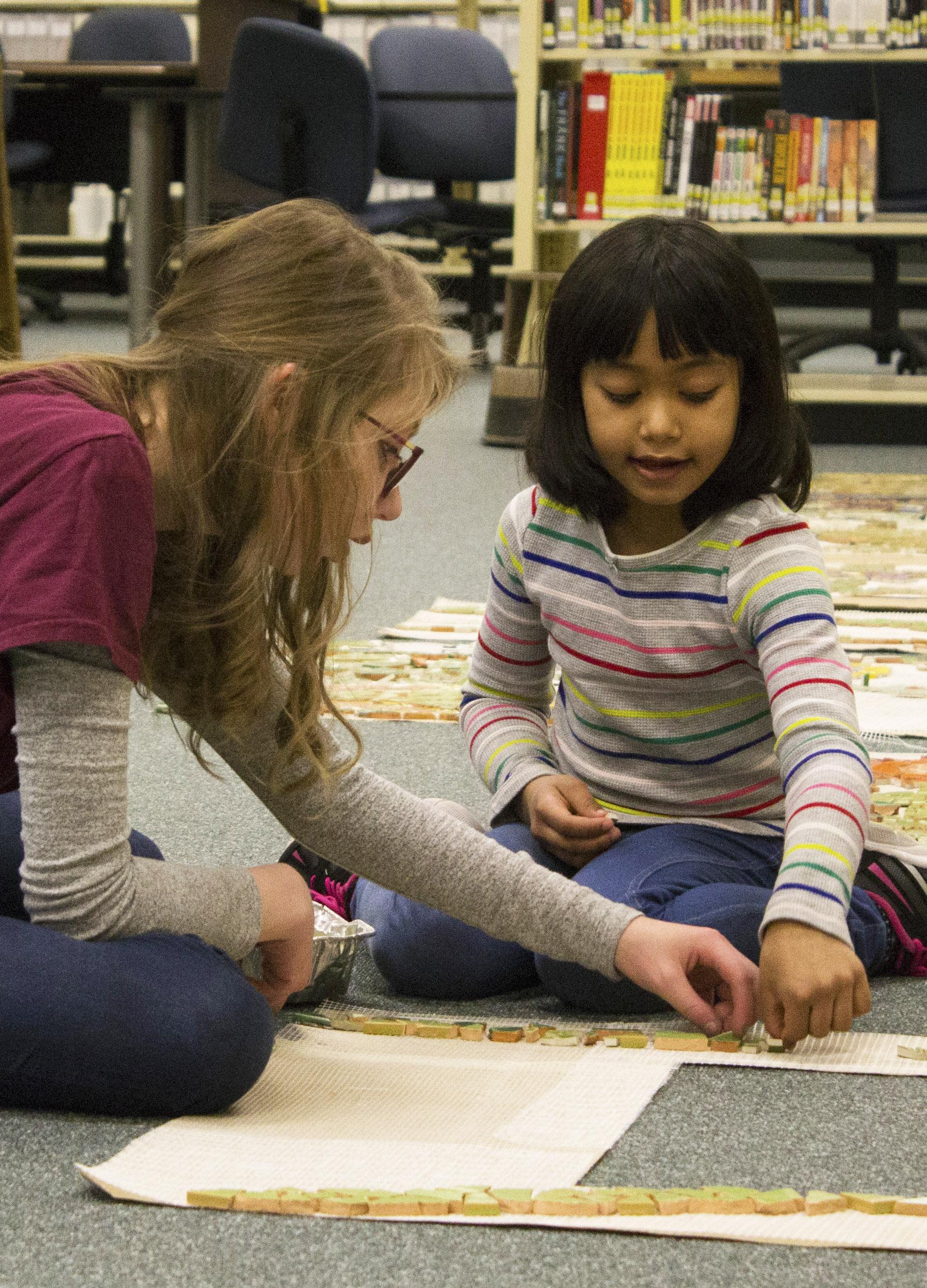 Elizabeth Rosendahl  UW-Stout Art Education INTERNSHIP: Mosaic Mural Installation LOCATION: UW-Stout Library