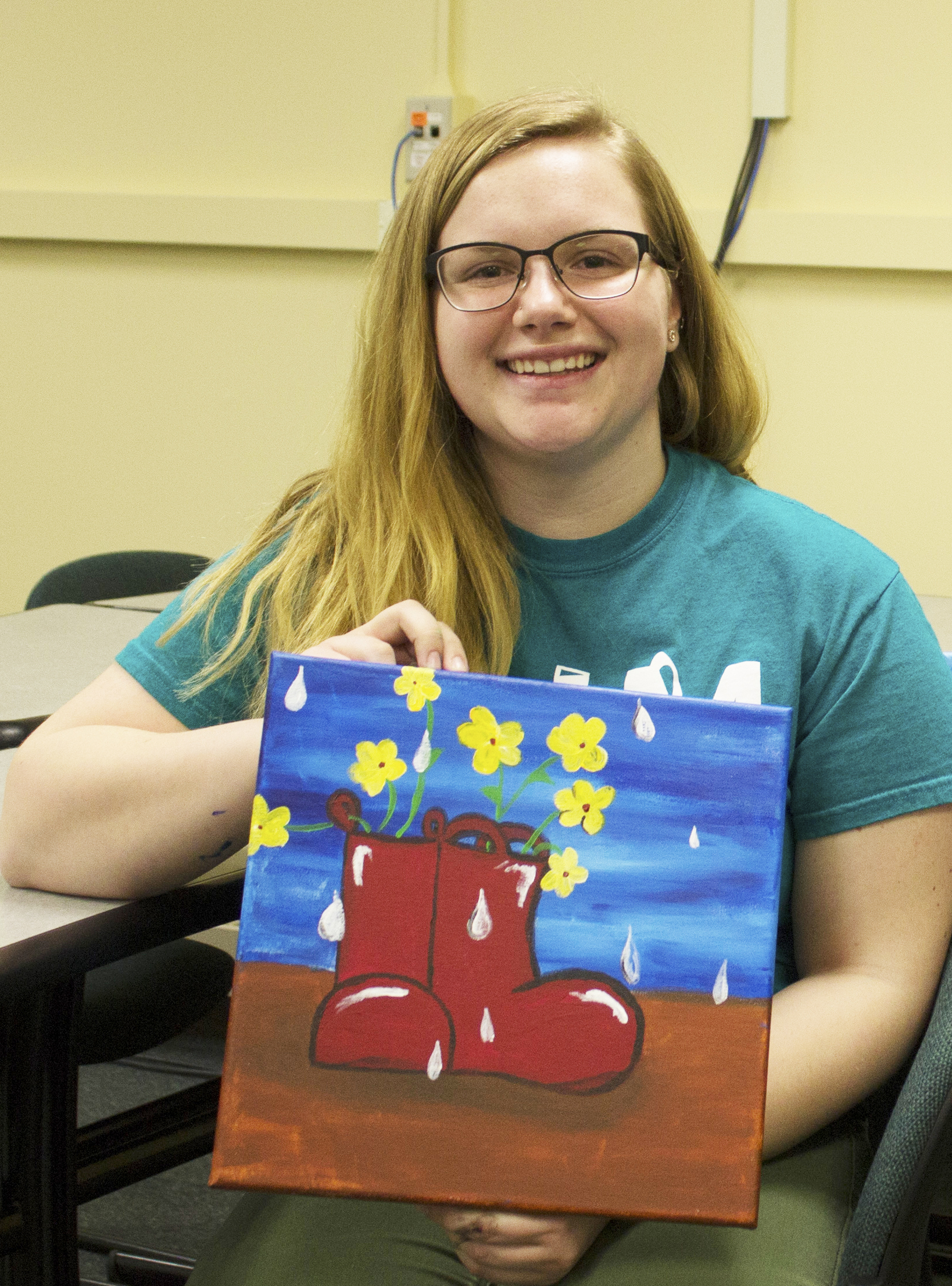 Cierra Hurlbert  UW-Stout Art Education INTERNSHIP: Canvas Fridays, Mabel Tainter Center for the Arts