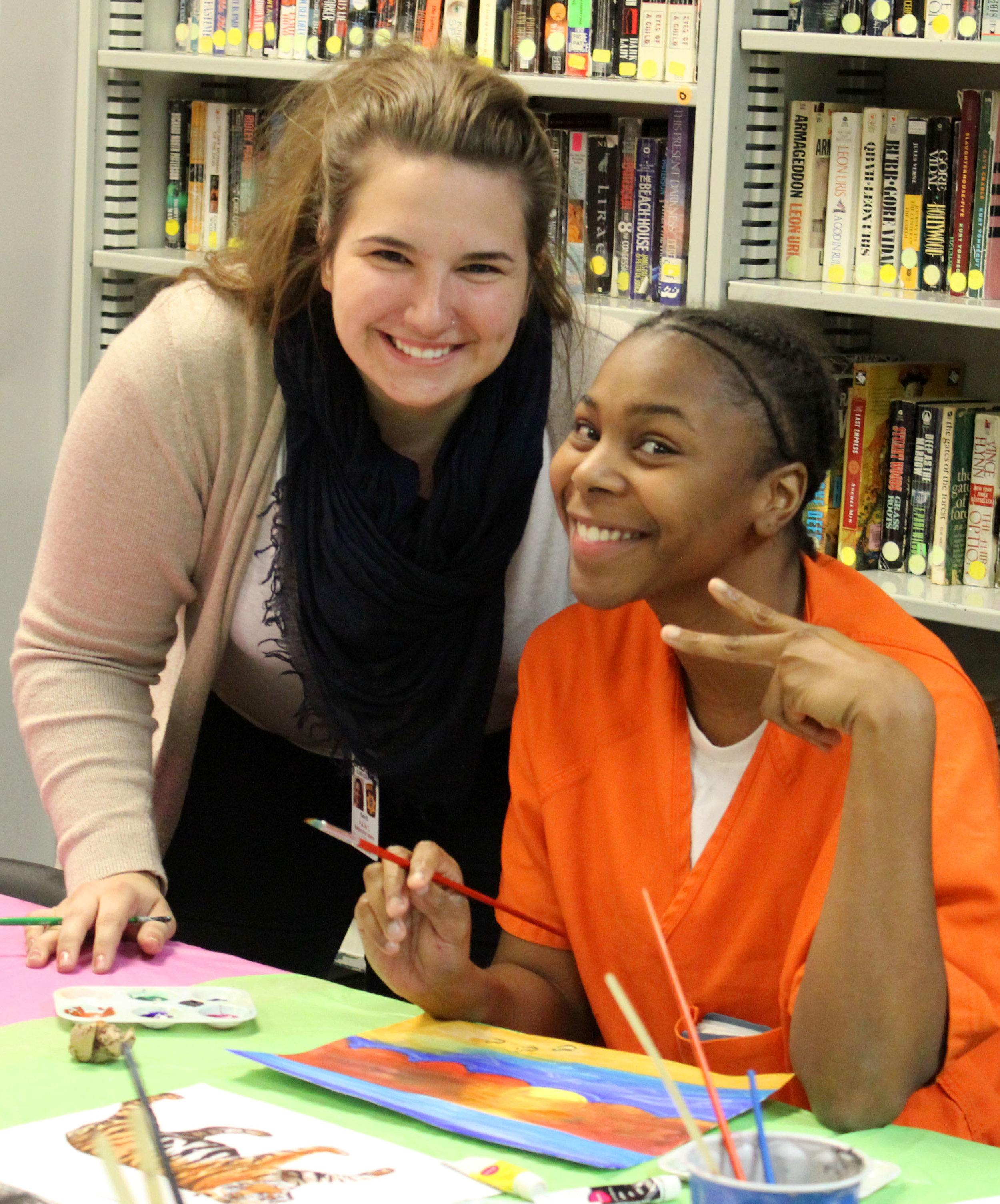 Sara Sampson  UW-Stout Art Education INTERNSHIP: Watercolor, Dunn County Jail